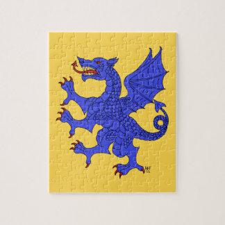 Rompecabezas (azul) desenfrenado del dragón