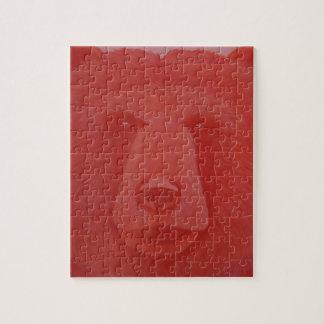 Rompecabezas bermellón del oso