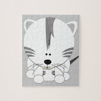 Rompecabezas blanco de Cub de tigre