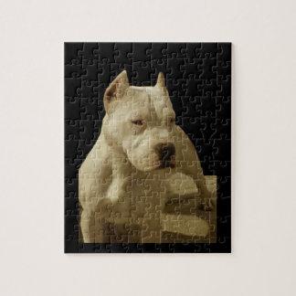Rompecabezas blanco de la foto del perro 8x10 de P