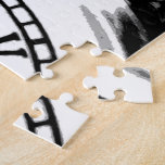 rompecabezas blanco y negro del clockface