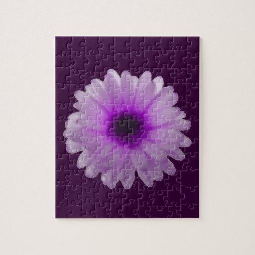 Rompecabezas blanco y púrpura de la maravilla