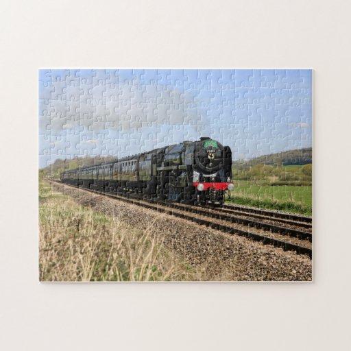 Rompecabezas británico del tren del vapor de Olive
