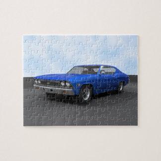 Rompecabezas Chevelle 1968 SS Final azul