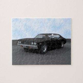 Rompecabezas: Chevelle 1969 SS: Acabado en negro Puzzle
