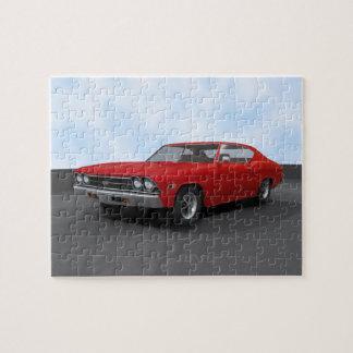 Rompecabezas: Chevelle 1969 SS: Final rojo Rompecabeza Con Fotos
