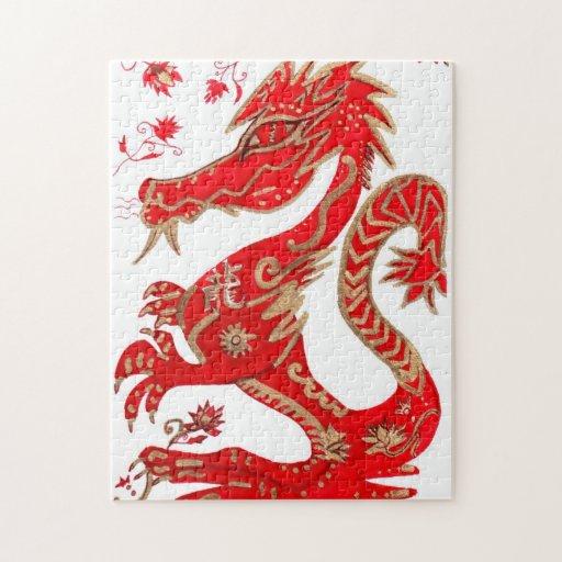 Rompecabezas chino de la astrología del dragón