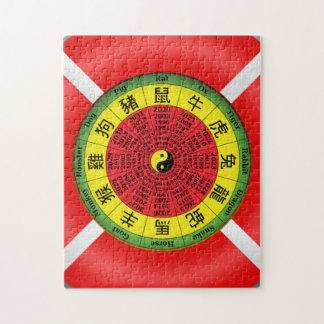 Rompecabezas chino de la rueda del zodiaco