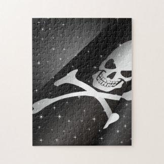 Rompecabezas chispeante de la bandera de pirata