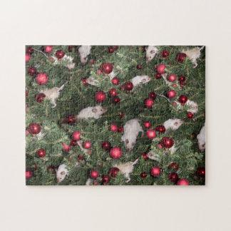 Rompecabezas: Collage del ratón del navidad