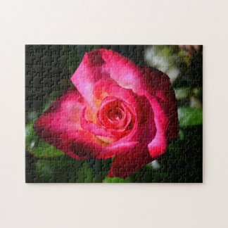 Rompecabezas color de rosa rosado oscuro