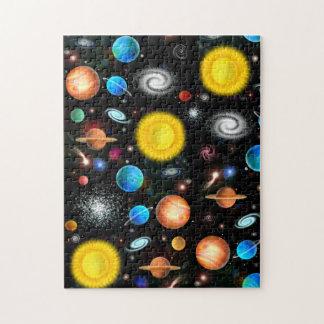 Rompecabezas colorido de la astronomía de espacio