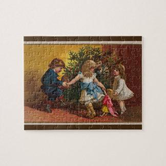 Rompecabezas colorido de los juegos del navidad