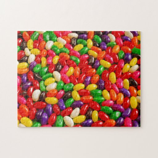 Rompecabezas colorido del caramelo del jellybean