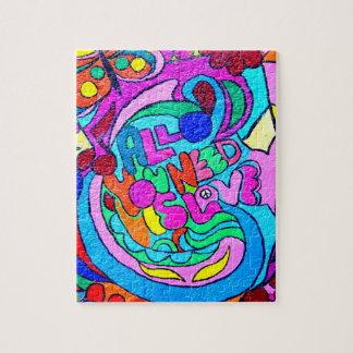 rompecabezas colorido maravilloso enrrollado del