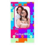 Rompecabezas colorido personalizado tarjeta de visita