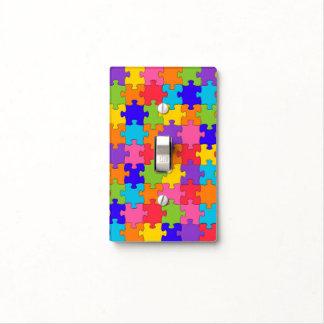 Rompecabezas colorido tapas para interruptores