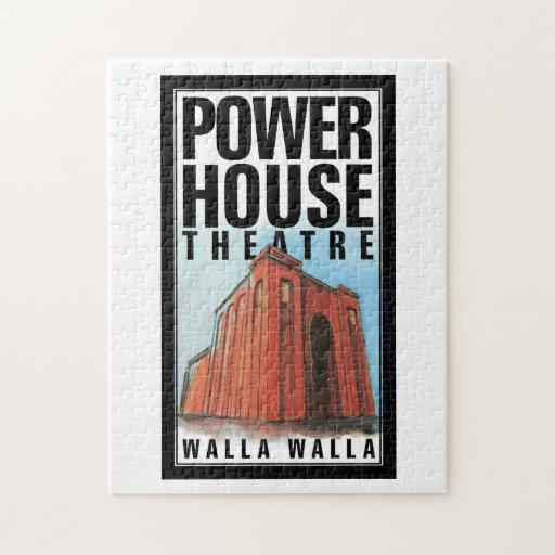 Rompecabezas con el logotipo del teatro de la casa