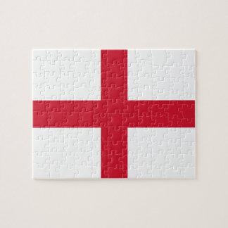Rompecabezas con la bandera de Inglaterra