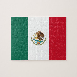 Rompecabezas con la bandera de México