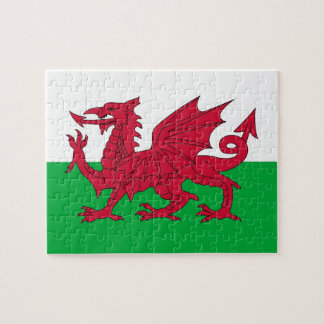 Rompecabezas con la bandera de País de Gales