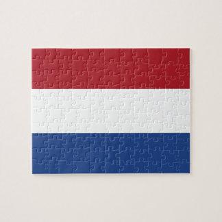 Rompecabezas con la bandera de Países Bajos