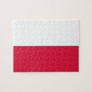 Rompecabezas con la bandera de Polonia