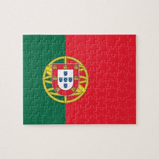 Rompecabezas con la bandera de Portugal