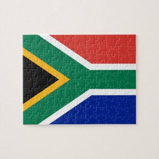 Rompecabezas con la bandera de Suráfrica