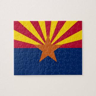 Rompecabezas con la bandera del estado de Arizona