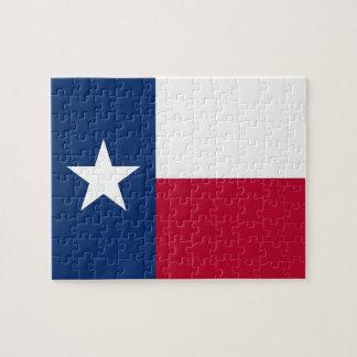 Rompecabezas con la bandera del estado de Tejas