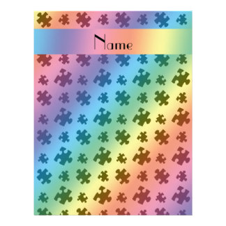 Rompecabezas conocido personalizado del arco iris plantillas de membrete