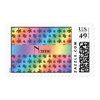 Rompecabezas conocido personalizado del arco iris sello