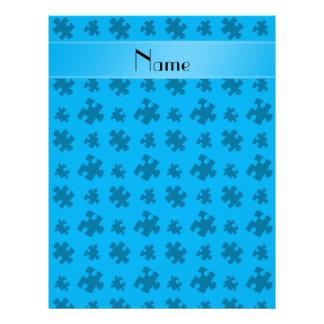 Rompecabezas conocido personalizado del azul de membrete