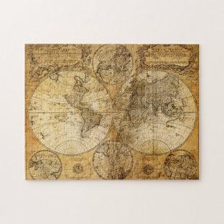 Rompecabezas continente del mapa del Viejo Mundo