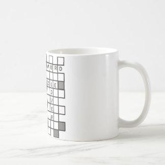 rompecabezas cruzado de la palabra taza básica blanca