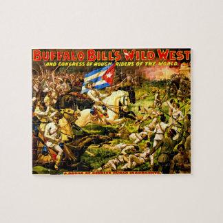 Rompecabezas de Buffalo Bill del vintage
