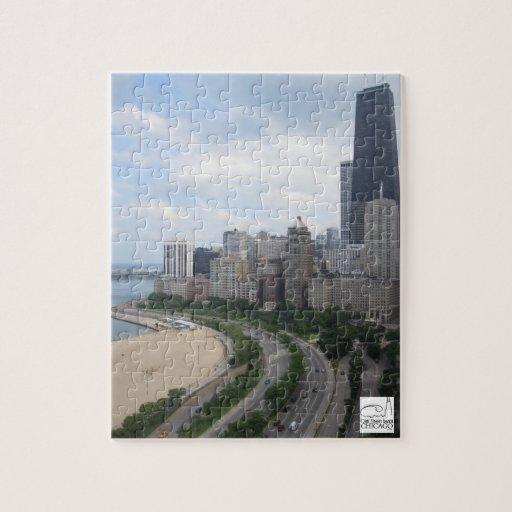 Rompecabezas de Chicago de la playa de la calle de