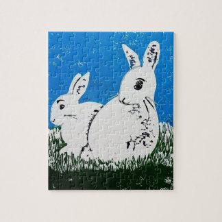 Rompecabezas de dos conejos