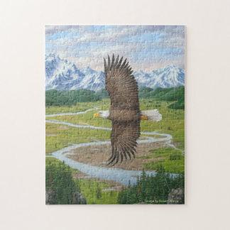 Rompecabezas de Eagle calvo