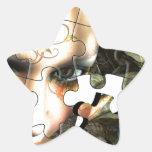 Rompecabezas de hadas del perfil calcomanía forma de estrella personalizadas