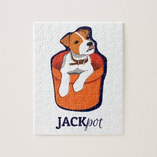 "Rompecabezas de Jack Russell Terrier del ""bote"""