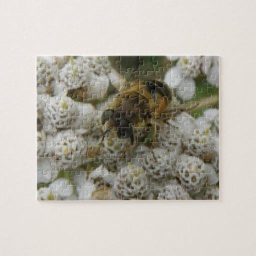 Rompecabezas de la abeja y de las flores