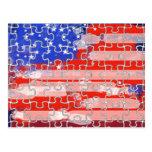 rompecabezas de la bandera de América Postal