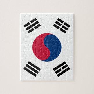 Rompecabezas de la bandera de la Corea del Sur