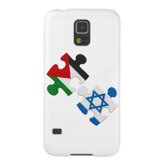 Rompecabezas de la bandera del conflicto de Israel Carcasa De Galaxy S5