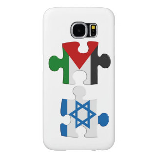 Rompecabezas de la bandera del conflicto de Israel Fundas Samsung Galaxy S6