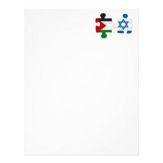 Rompecabezas de la bandera del conflicto de Israel Membrete A Diseño