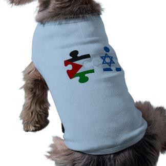 Rompecabezas de la bandera del conflicto de Israel Playera Sin Mangas Para Perro