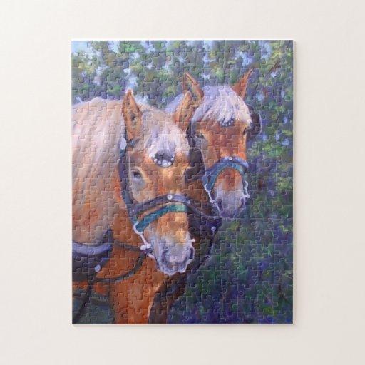 Rompecabezas de la bella arte de los caballos de p